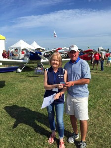 A picture of me purchasing a Van's RV-8 Kit!